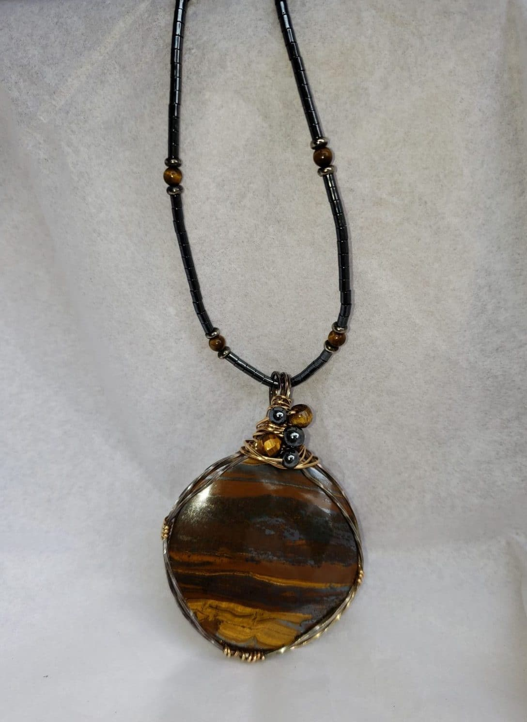 Tiger's Eye and Chain by Tina Acciavatti