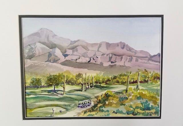 Desert Golf by Jessica Disbrow