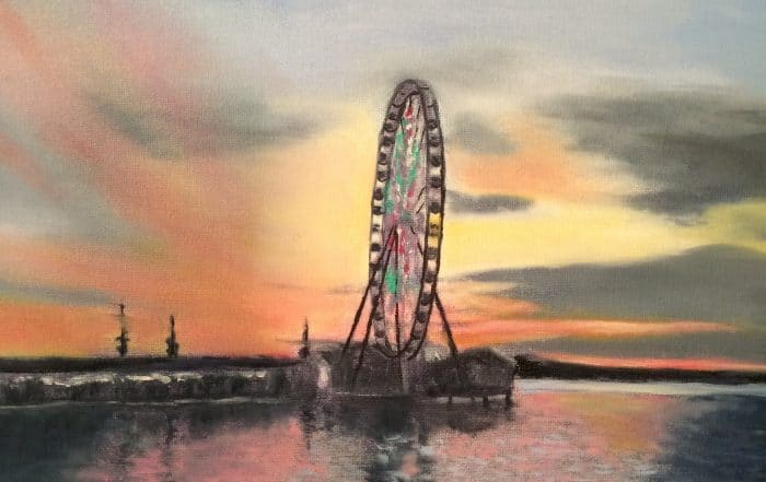 Ferris Wheel, National Harbor, MD by Barbara Dove