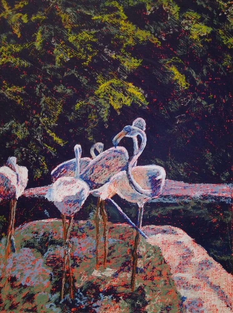 Flamingos by Carol Kessler