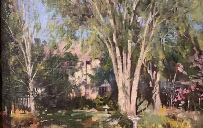 Garden at End of Day by Anthony Collins