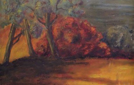Hill in Autumn by Carol Kessler