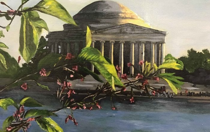 Jefferson Memorial by Barbara Dove