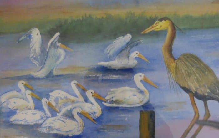 Lake Birds by Shirley Buescher