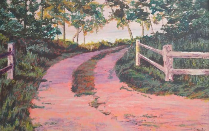 Madeline Island Pathway by Carol Kesler