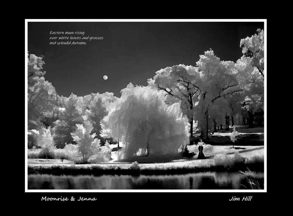 Moonrise & Jenna Haiku by Jim Hill
