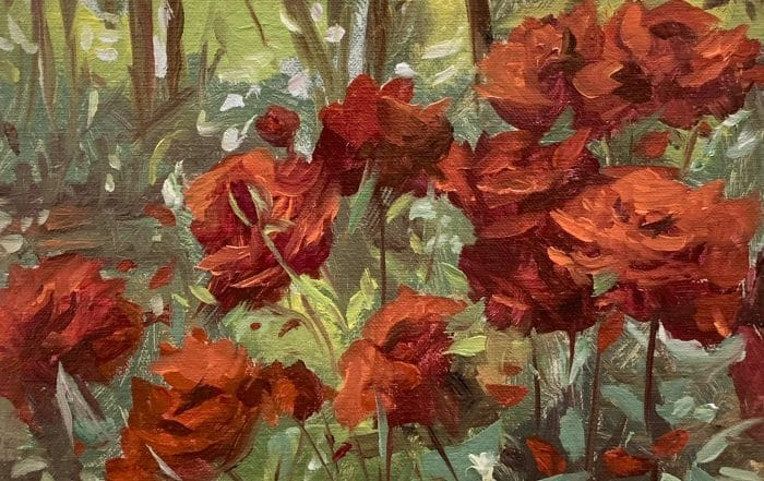 Roses in the Garden by Anthony Collins