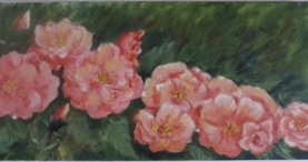 Roses in a Row by Shirley Buescher