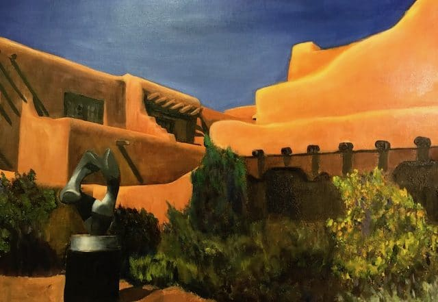 Santa Fe Courtyard by Barbara Dove