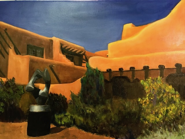 Santa Fe Courtyard by Barbara Dove