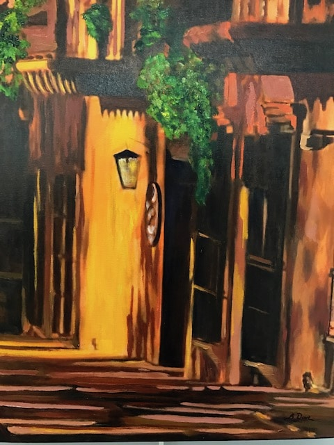 Tlaquepaque Shadows by Barbara Dove