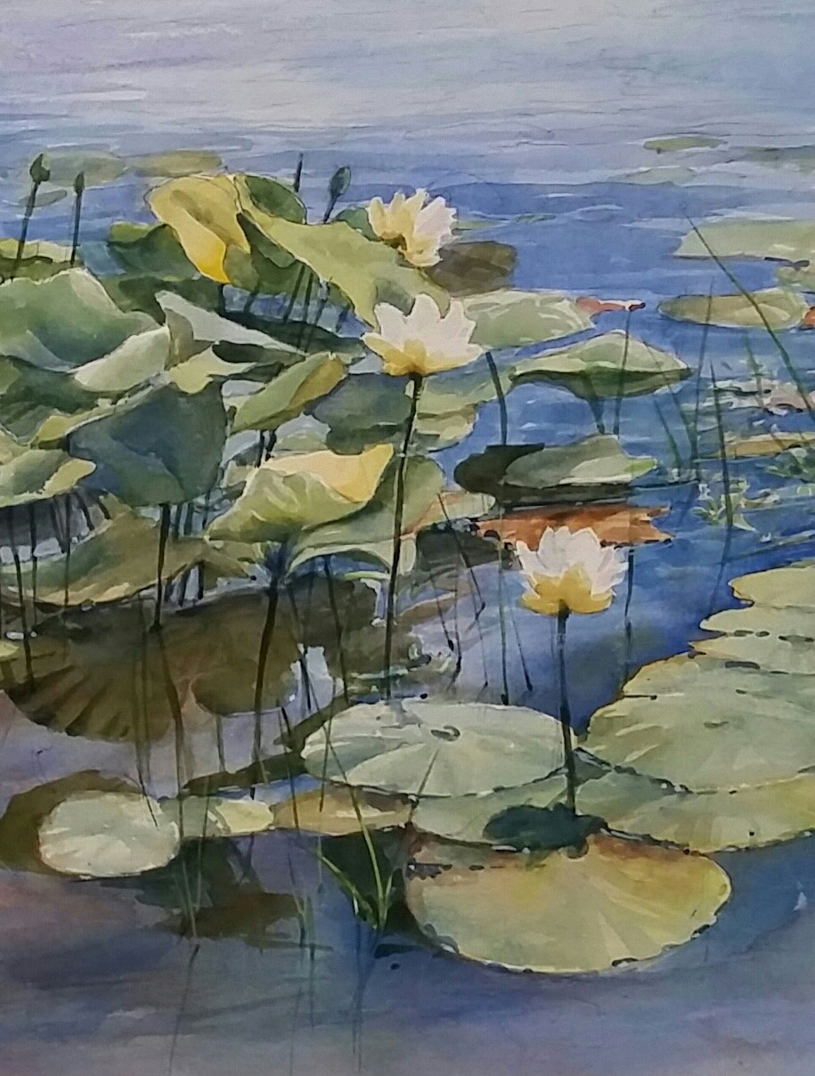 Water Lotus I by Sharon Zimmerman