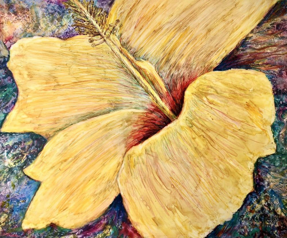 Yellow Hibiscus by Rae Nell Spencer