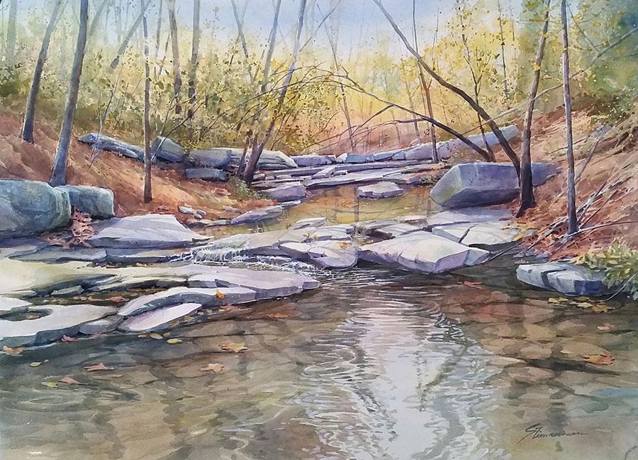 Trail Crossing by Sharon Zimmerman