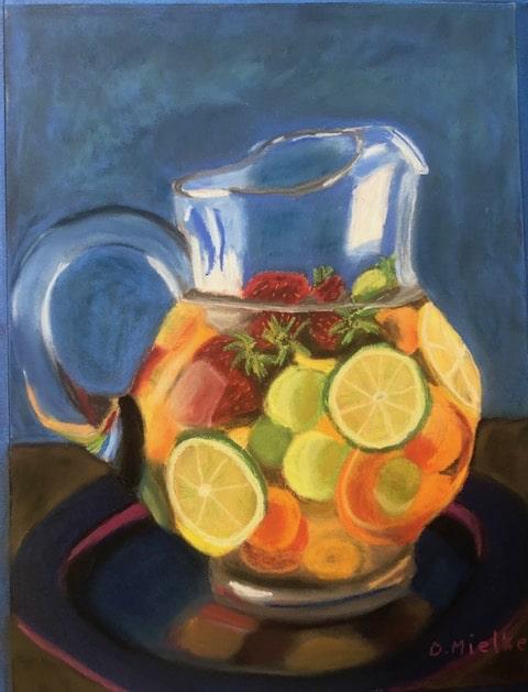 Pitcher with Sliced Lemons and Limes by Debra Mielke